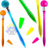 PENNA a SFERA Lucina LAMPADINA Led LUMINOSA Pallina LIGHT Pen COLORATA Gadget