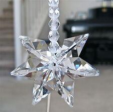 Snowflake Octagon Ornament Suncatcher Made with Swarovski  22mm Prisms