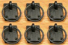 """Set of 6 Cast Iron Ring Antique-Style Drawer Cabinet Pulls Handles Knobs 3"""""""