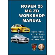 Rover 25 & MG ZR Workshop Manual book paper car