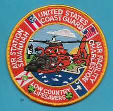Us Coast Guard Air Station Savannah Charleston Police Patch Helicopter