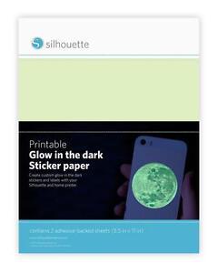 Silhouette GLOW IN THE DARK STICKER PAPER for Inkjet Printers