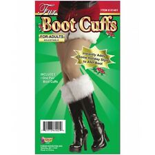 White Fur Boot Cuffs Christmas Santa Sexy Adult Women Holiday Cosplay Covers