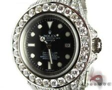 Mens Diamond Rolex Deepsea Sea Dweller Stainless Steel Round Cut G Color 32.50ct