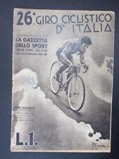 Ciclismo 26° Giro D'Italia 7/29-05-1938 Sport Illustrato n°4con Valletti,Martano