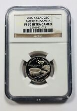 2009 S Clad US American Samoa Quarter 25C NGC PF70 ULTRA CAMEO Brown Label