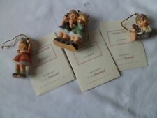 Studio Hummel Ornaments-Set of 3-Finishing Touch, Christmas Whispers, Treats