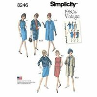 Simplicity Sewing Pattern 8246 Misses 1960s Vintage Dress Top Skirt Size 14-22