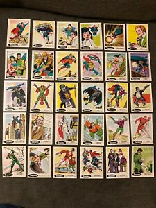1978 Taystee DC Comics Superheroes Complete 30 Sticker Set -Excellent to Mint