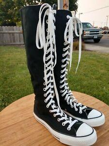 Converse All Star Chuck Taylor Black Tall Knee High Zip Unisex M6 W8 UK6 EU39