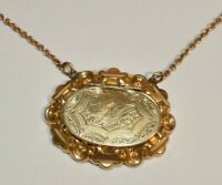 Antique JFSS Co Victorian Gold Filled Mourning Locket Necklace