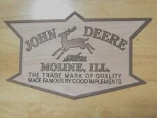 John Deere Quality Implements Vintage Style Wood Sign Farm Cave equipment Moline