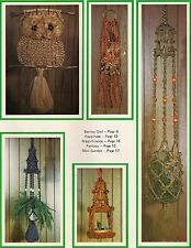 Garden in a Jar Plant Hanger Pattern - Craft Book: What in the Macrame is it?
