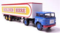 H0 LIAZ Skoda 706 Sattelzug Auflieger Kofferaufbau Berliner Biere VEB # 71817