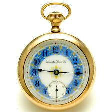 RARE HAMILTON 946 POCKET WATCH CA1906 |18 SIZE ROSE GOLD FILLED CASE, 23 JEWEL