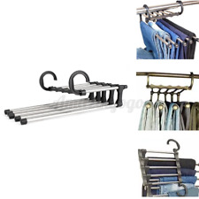 5 In 1 Flexible Pant Clothes Stand Rack Hanger Towel Hangers Closet