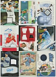 LOT (27) MLB Baseball Game-Used Jersey Patch Relic Rookie Autographs AUTO RC /50
