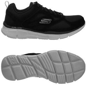 Skechers Equalizer schwarz weiß Herren Sneakers Freizeitschuhe Sportschuh NEU