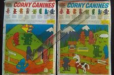 R&L Australian CEREAL TOY Panel Art Colour Repro CORNY CANINES Kelloggs 1971 Dog