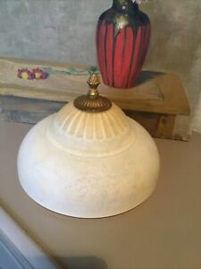 Vintage Antique/Deco Style Marbled Glass Plafoniere Ceiling Light  #6467