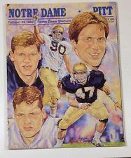 1989 Notre Dame Vs Pitt Football Program