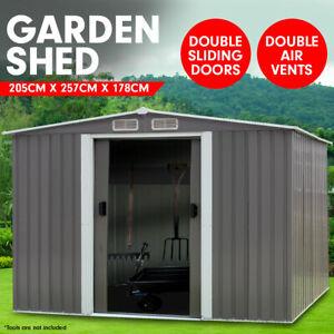 6ft x 8ft Garden Sheds Tool Storage Outdoor Workshop Shelter Spire Roof - Grey