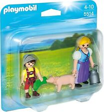 Playmobil 5514 Duo Pack Campesina con hijo y cerdito Country Knights