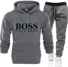 Mens Fleece Hoodies Sweatshirt Pants Bottoms Tracksuit Set Sport Jogging Suit