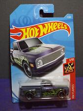 2018 Hot Wheels CUSTOM '69 CHEVY PICKUP- HW FLAMES Series 1/10, Mint Long card.
