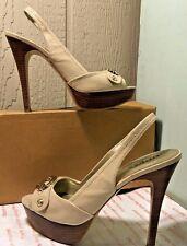 Size 8M GUESS High Heel Slingback Open Toe Nude Women's Platform Stilettos