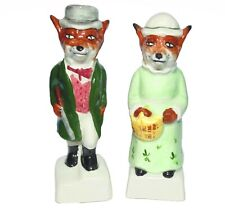 ARTONE   ornament pottery ' pair foxes '  Mr Mrs Fox 1st quality (7807)