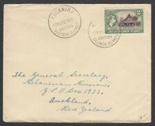 British Solomon Islands 1952 cover KIRAKIRA to New Zealand