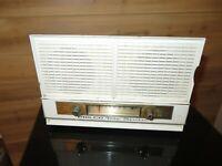 Vintage Philco Twin Speaker Tube Radio Turquoise & white Radio works nice & loud