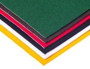 Self Adhesive Acrylic Craft Felt. STICKY BACK Sheets  23cm x 30cm PACK of 2