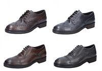 CESARE MAURIZI scarpe uomo classiche in pelle color grigio e marrone