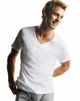 Hanes V-Neck Undershirt 7 Pack Men FreshIQ ComfortSoft TShirt Bonus Tag-free