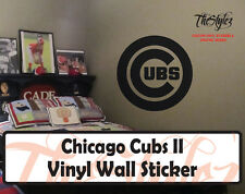 Chicago Cubs II Baseball Vinyl Wall Sticker