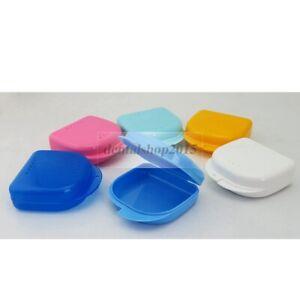 5pcs Denture Case plastic Storage Container mouthguard Protable  Orthodontic