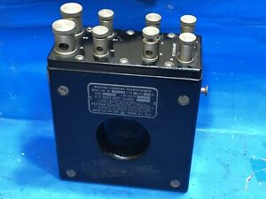 Vintage 1950 WESTON Model 461 Current Transformer Brooklyn Navy Yard