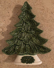 Vintage Ceramic Mold Christmas Tree Wall Hanging Tray Candy Dish - 9""