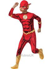 Child The Flash Superhero Boys Outfit Fancy Dress Comic Book Week Kids Costume