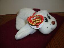 "Vintage 1984/2007 Small White w/Red collar 6"" Pound Puppy ~ Collectible Newborns"