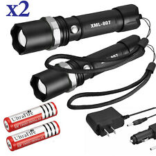 Tactical Police 90000Lumens T6 3Modes LED Flashlight Aluminum Torch Zoomable USA