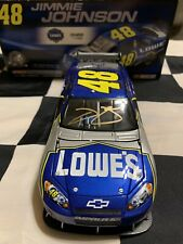 2008 Jimmie Johnson Gold Autographed #48 Lowe's 1/24
