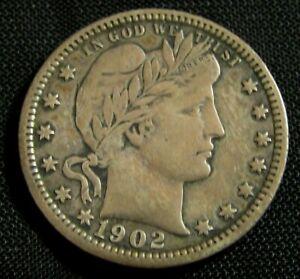 1902-O 25C Barber Liberty Head Silver Quarter AN9