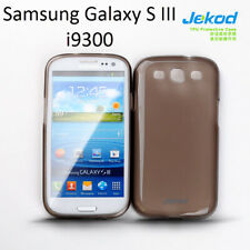 Jekod black TPU gel silicon case cover+screen protector for Samsung Galaxy S III