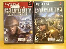 Call of Duty 3 & Finest Hour - Playstation PS2 - Sealed - New - Black Label