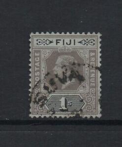 FIJI 1912-23 GV 1s. black/green (on blue-green back) Wmk MCA (SG134b) *USED*