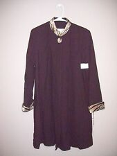 Laura Madrigano Womens Size 10 NWT Brown Coat Zebra Collar and Sleeve Trim