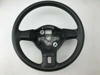 VW GOLF MK6 ESTATE 3 SPOKE LEATHER STEERING WHEEL 5C0419091